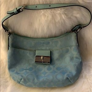 Coach mini blue purse